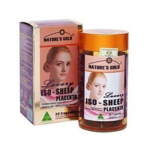 Iso Sheep Placenta Hộp 30 Viên - Bổ Sung Nội Tiết Tố, Trị Nám Làm Đẹp Da