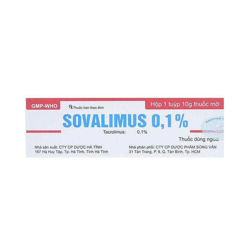 Sovalimus 01 - Tuýp 10g - Điều trị ngắn hạn và dài hạn chàm thể tạng