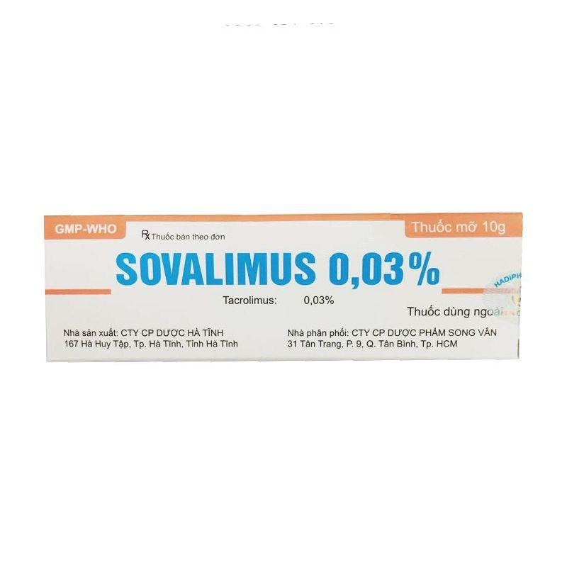 Sovalimus 003 - Tuýp 10g - Điều trị ngắn hạn và dài hạn chàm thể tạng