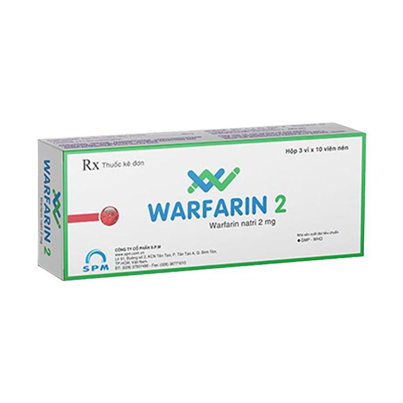 Warfarin 2 Hộp 30 Viên
