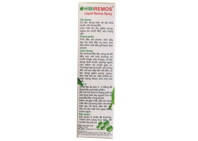 Hibiremos Hộp 100ml - Xịt Chống Muỗi Cho Trẻ Từ 6 Tháng Tuổi