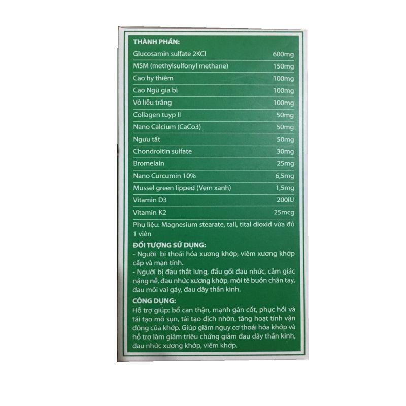 BonK Hộp 50 Viên - Thành Phần Công Dụng