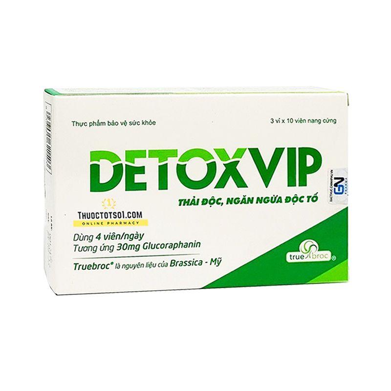 Detoxvip Hộp 30 Viên - Tăng Sức Đề Kháng, Chống Oxy Hóa