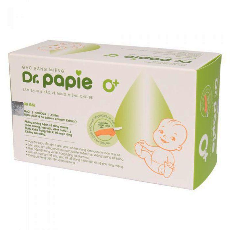 Gạc Răng Miệng Dr.Papie Hộp 30 Gói