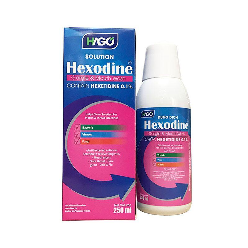 Hexodine Chai 250ml - Nước Xúc Miệng Diệt Khuẩn