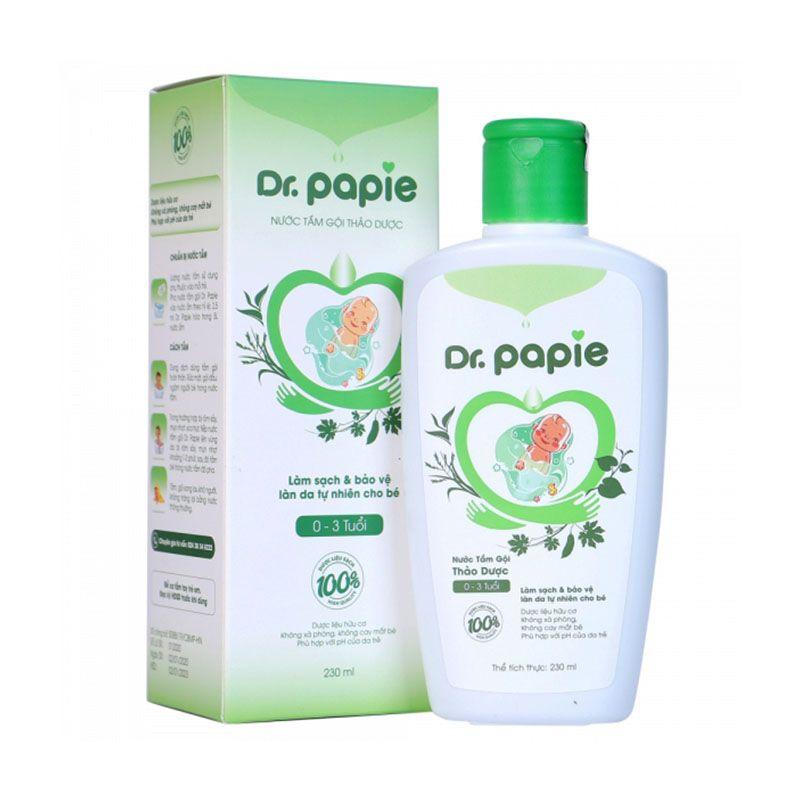 Nước Tắm Gội Thảo Dược Dr.Papie Chai 230ml