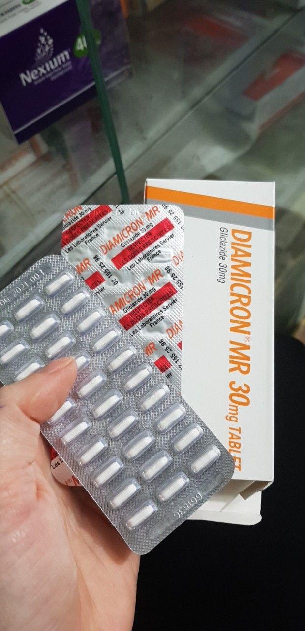 Diamicron MR 30mg Hộp 30 Viên - Điều Trị Đái Tháo Đường
