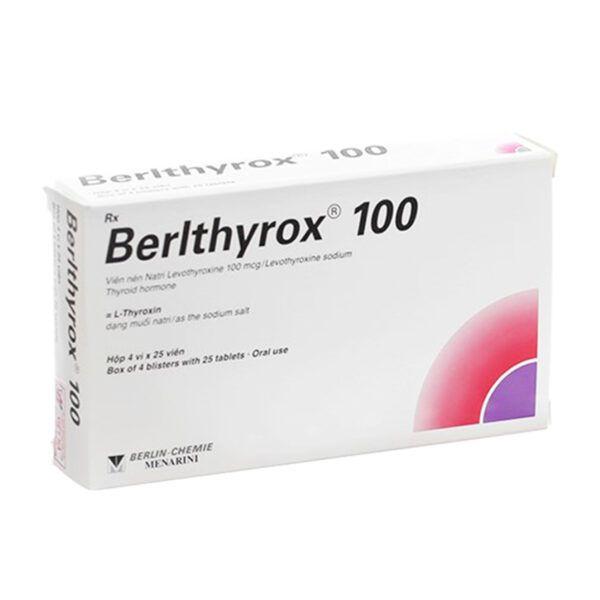 Berlthyrox 100 Hộp 100 Viên - Điều Trị Thiếu Hụt Hormon Tuyến Giáp