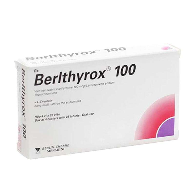 Berlthyrox 100 Hộp 100 Viên - Điều Trị Bệnh Lý Tuyến Giáp