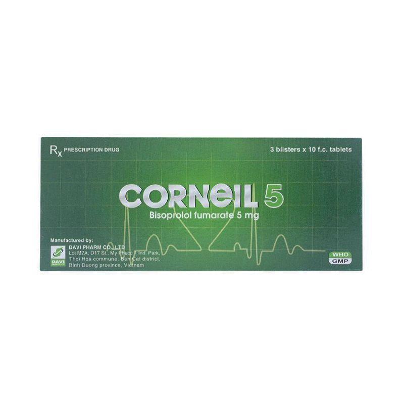 Corneil 5 Hộp 30 Viên - Điều Trị Tăng Huyết Áp