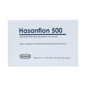 Hasanflon 500 Hộp 30 Viên - Điều Trị Trĩ, Suy Tĩnh Mạch