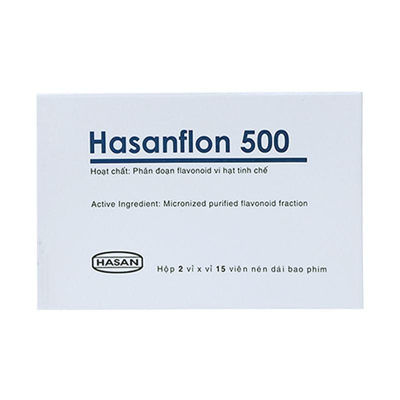 Hasanflon 500 Hộp 30 Viên - Điều Trị Suy Tĩnh Mạch