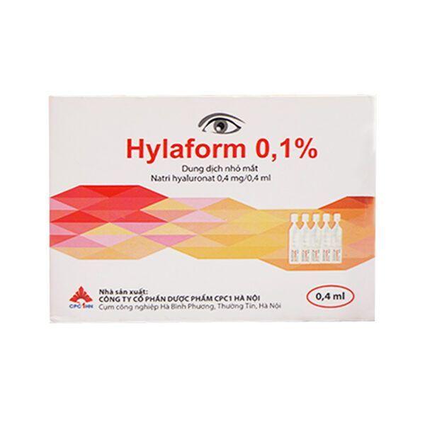 Thuốc Nhỏ Mắt Hylaform 0.4ml Hộp 20 Ống - Cải Thiện Triệu Chứng Khô Mắt
