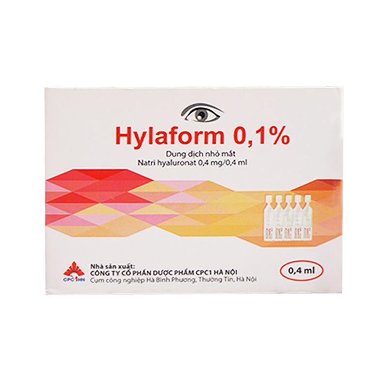 Hylaform 0.4ml Hộp 20 Ống - Thuốc Nhỏ Mắt