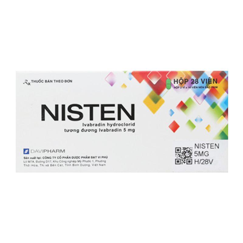 Nisten Hộp 28 Viên - Điều Trị Bệnh Mạch Vành