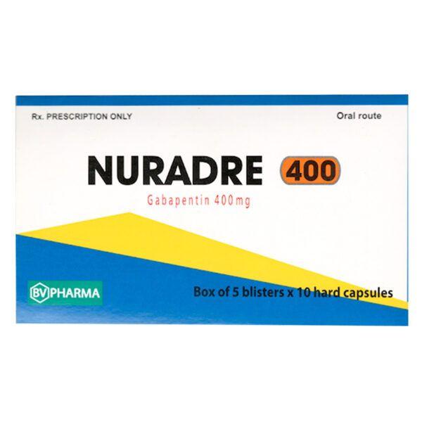 Nuradre 400 Hộp 50 Viên - Thuốc Chống Co Giật