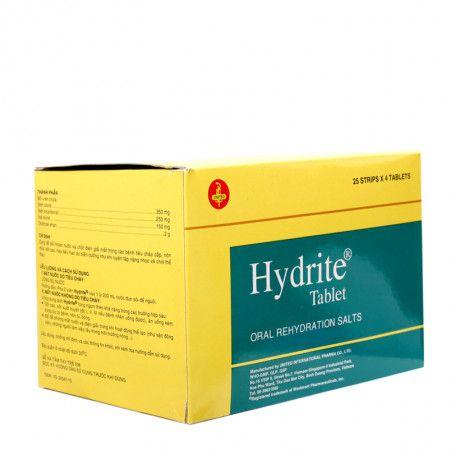 Hydrite Tablet Hộp 100 Viên - Bồi Hoàn Nước, Chất Điện Giải