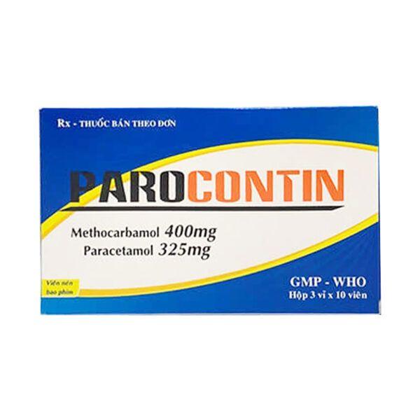 Thuốc Parocontin Hộp 30 Viên - Giúp Giảm Đau Hiệu Quả