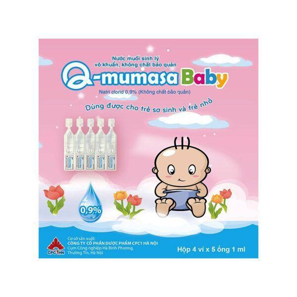 Nước Muối Sinh Lý Vô Khuẩn, Không Chất Bảo Quản Q Mumasa Baby Hộp 20 Ống