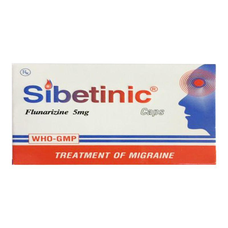 Sibetinic Hộp 100 Viên - Điều Trị Chứng Đau Nửa Đầu