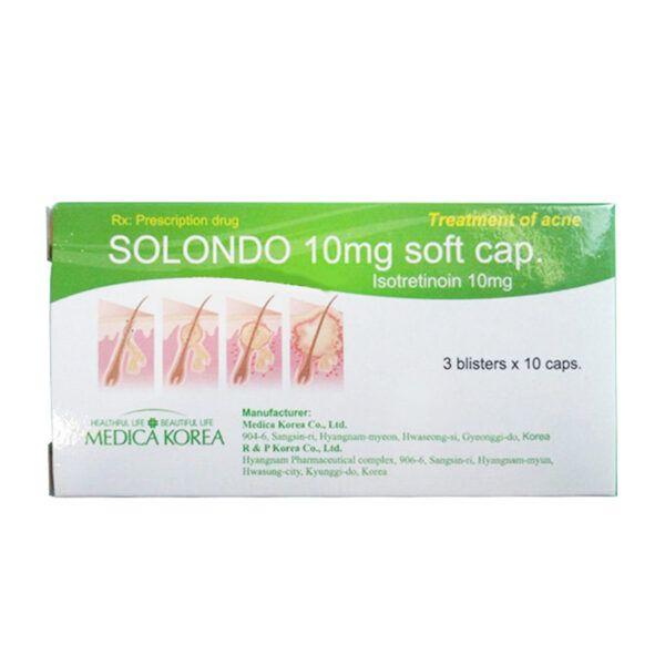 Thuốc Điều Trị Mụn Trứng Cá Solondo 10mg Hộp 30 Viên