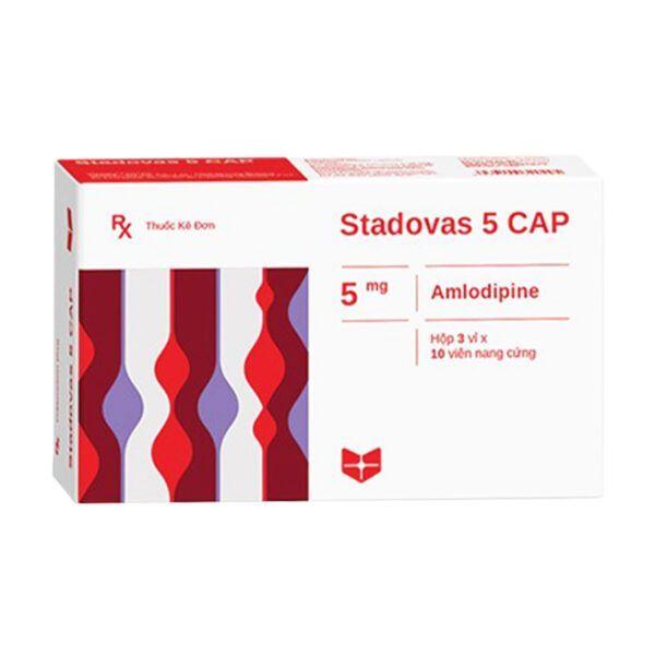 Stadovas 5 Cap Hộp 30 Viên - Điều Trị Thiếu Máu Cơ Tim, Cao Huyết Áp