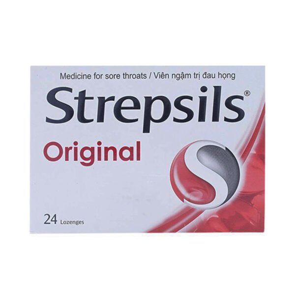 Viên Ngậm Trị Đau Họng Strepsils Original Hộp 24 Viên