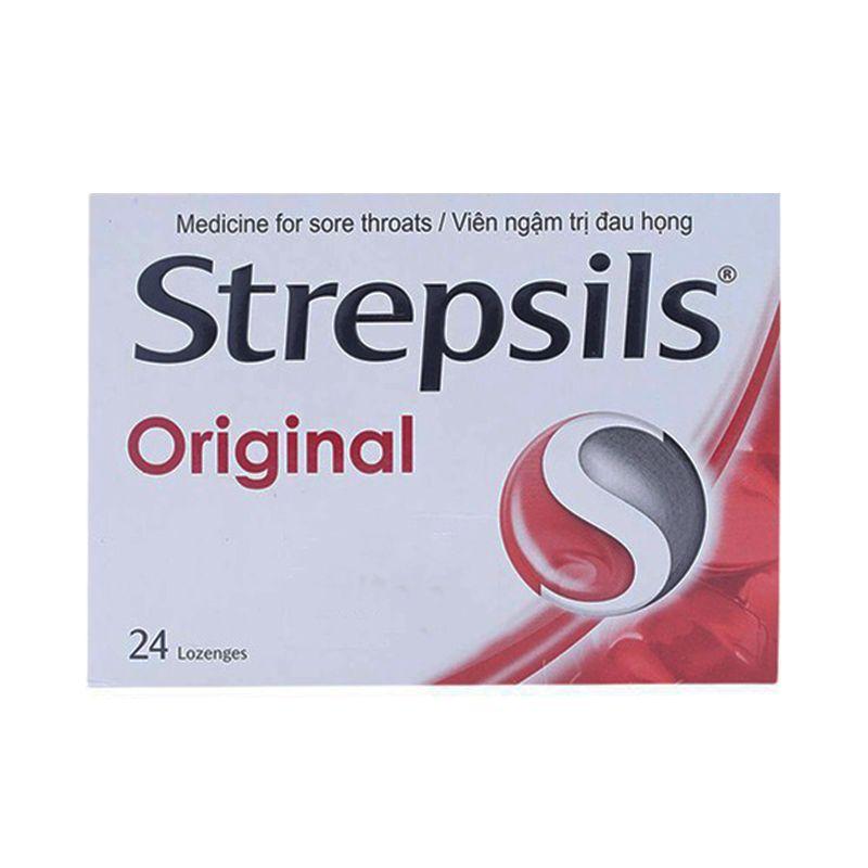 Strepsils Original Hộp 24 Viên - Viên Ngậm Giảm Ho