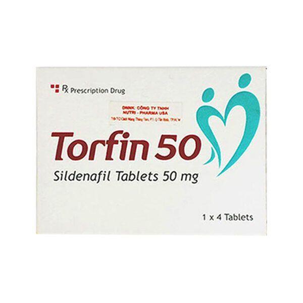 Torfin 50 Hộp 4 Viên - Thuốc Cường Dương