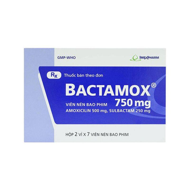 Bactamox 750 Hộp 14 Viên - Điều Trị Nhiễm Khuẩn