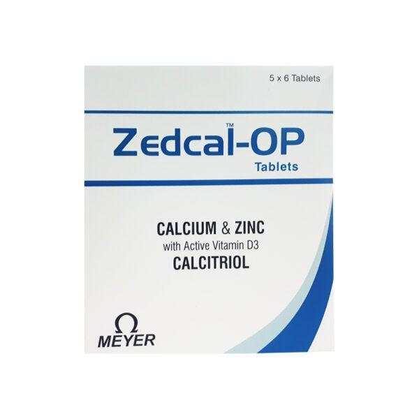 Zedcal-OP Hộp 30 Viên - Giúp Bổ Sung Canxi, Kẽm