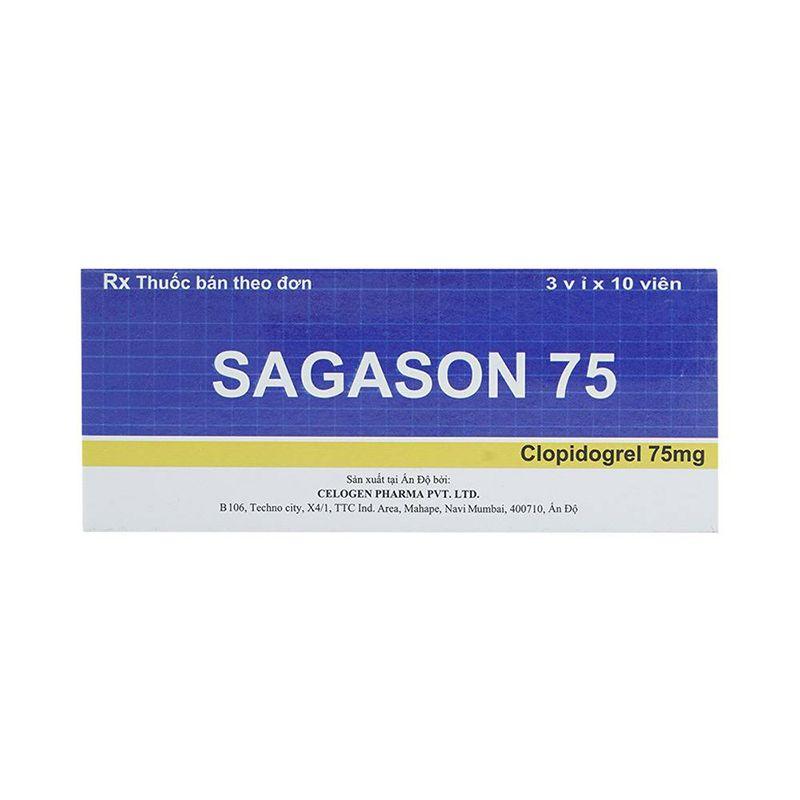Sagason 75 Hộp 30 Viên - Trị Rối Loạn Do Nghẽn Mạch Huyết