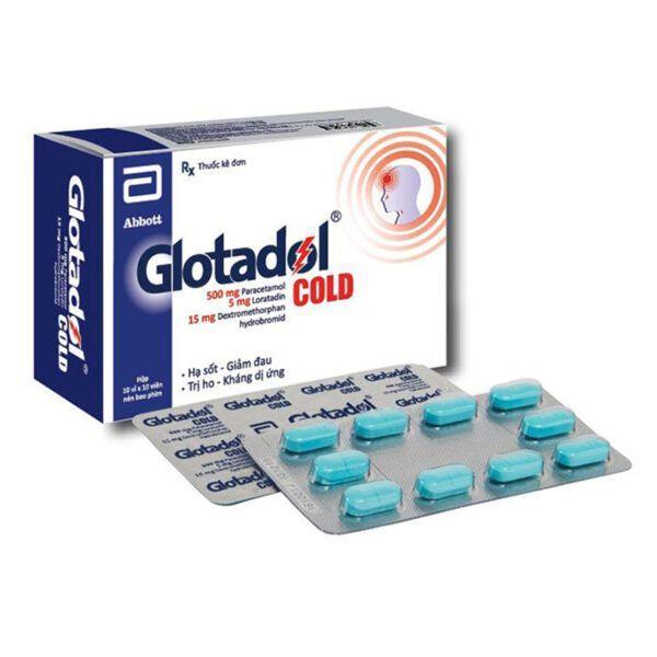 Glotadol Cold Hộp 100 Viên - Hạ Sốt, Giảm Đau, Trị Ho, Kháng Dị Ứng