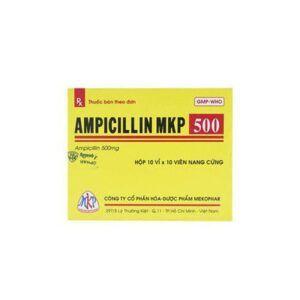 Ampicillin MKP 500 Hộp 100 Viên - Thuốc Điều Trị Nhiễm Khuẩn