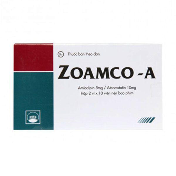 Zoamco A Hộp 20 Viên - Điều Trị Cao Huyết Áp, Dự Phòng Đau Thắt Ngực