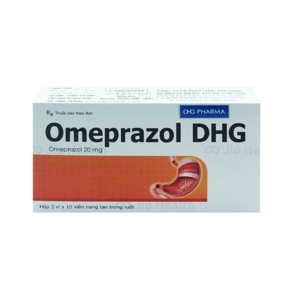 Thuốc Omeprazol DHG 20mg Hộp 30 Viên - Giảm Tiết Acid Dạ Dày