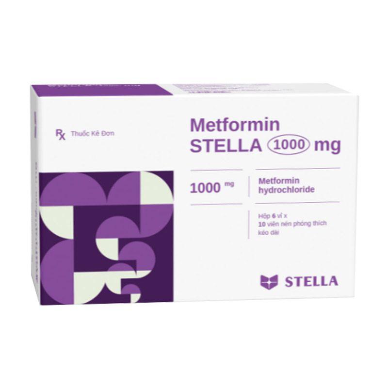 Metformin Stella 1000mg Hộp 60 Viên - Điều Trị Đái Tháo Đường Typ 2