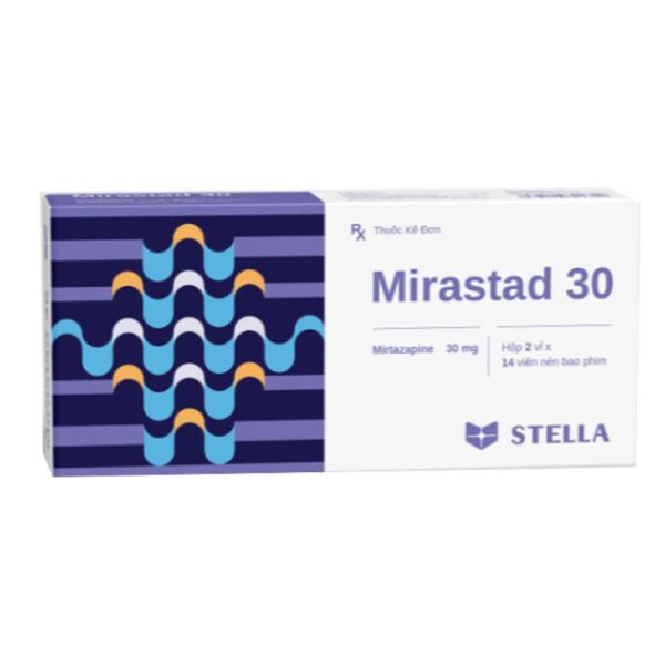 Mirastad 30 Hộp 28 Viên - Thuốc Chống Trầm Cảm