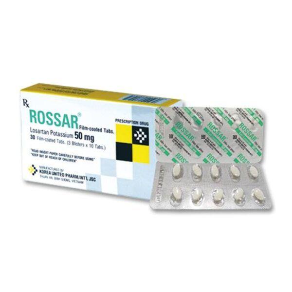 Rossar Hộp 30 Viên - Thuốc Điều Trị Cao Huyết Áp