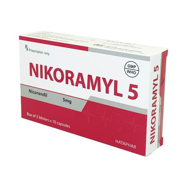 Nikoramyl 5 Hộp 30 Viên - Điều Trị Cơn Đau Thắt Ngực Ổn Định