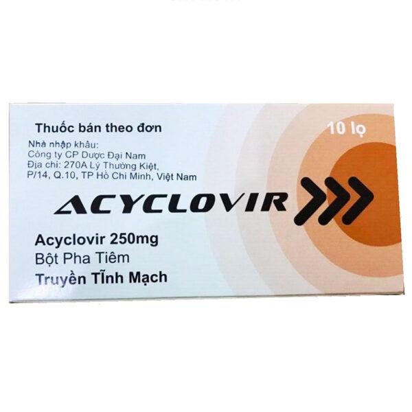 Acyclovir 250mg Hộp 10 Lọ - Thuốc Kháng Virus