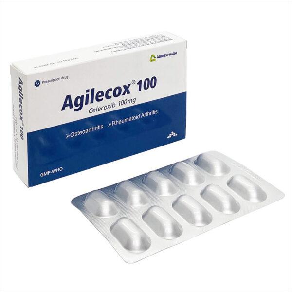 Thuốc Agilecox 100mg - Hộp 20 Viên - Giảm Đau Hiệu Quả