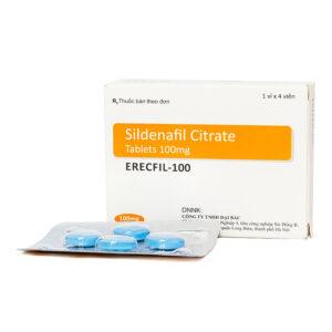 Erecfil - 100 Hộp 4 Viên - Trị Rối Loạn Cương Dương