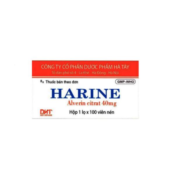 Harine - Lọ  100 Viên - Chống Co Thắt Cơ Trơn
