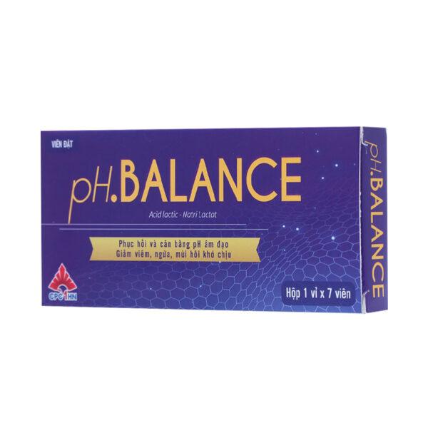 PH Balance - Hộp 7 Viên - Phục Hồi Cân Bằng pH Âm Đạo