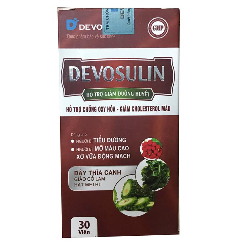 Devosulin - Hộp 30 Viên - Hỗ Trợ Chống Oxy Hóa