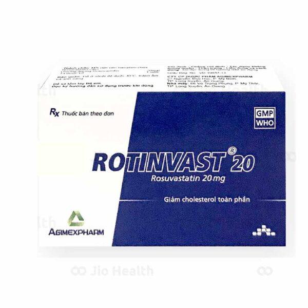 Thuốc Rotinvas 20 Agimexpharm - Giúp Ổn Định Cholesterol Máu