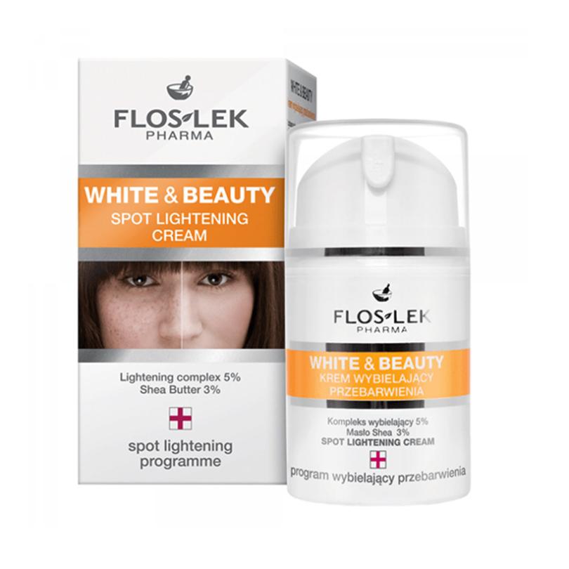 Floslek White & Beauty Lọ 50ml – Dưỡng Trắng Cấp Ẩm Cho Da