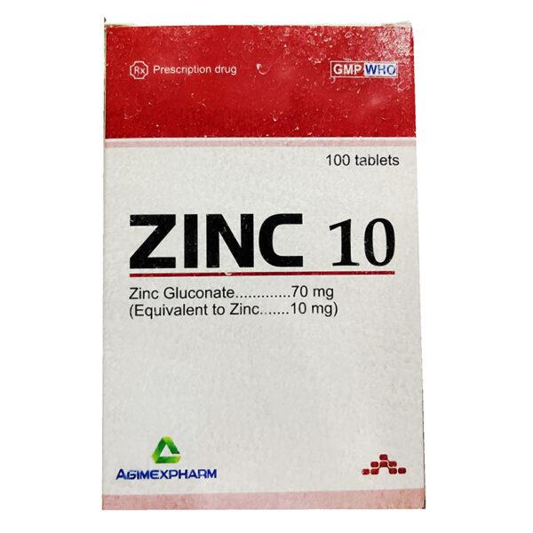 Agimexpharm ZinC 10 Hộp 100 Viên - Bổ Sung Kẽm Hằng Ngày