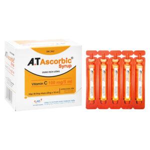 A.T Ascorbic Syrup Hộp 30 Ống 10ml - Trị Bệnh Scorbut